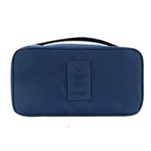Farbe Orange Verdickte Unterwäsche BH Sortierung Taschen Finishing Kit Bag in Bag dunkelblau