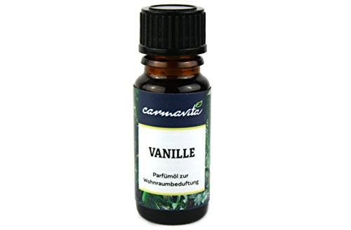 DUFTÖL Vanille 10ml - Aromaöl für Diffuser, Duftlampe, Kerze, Luftbefeuchter - Parfümöl mit frischem Vanilla Duft - Aromatherapie Qualität von carmavita