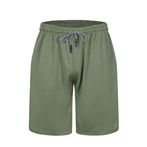 Pantalones cortos de los hombres de verano al aire libre de deportes ocasionales sueltos fitness secado rápido transpirable pantalones cortos de