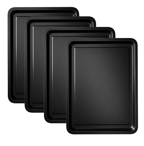 4-Pack - Essentials Baking Tray Set 32cm by Homeware Hut - Easy Cleaning Baking Tray/Pan, Non-Stick...
