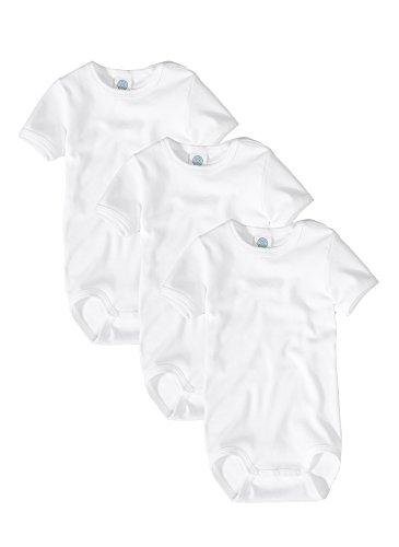 Sanetta bébé garçon Uni à manches courtes Body - Blanc - 2 mois