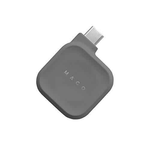 [輸入代理店正規品] Maco Go Apple Watch USB-C 磁気充電ドック (グレー) 1年保証付