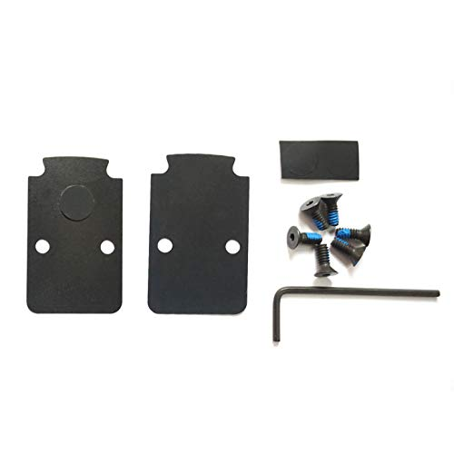 DPP Titanium Mounting Kit/Anti Flicker Sealing Plate Kit for Trijicon RMR Fit Glock MOS and Springfield OSP Models (Black Gen1)
