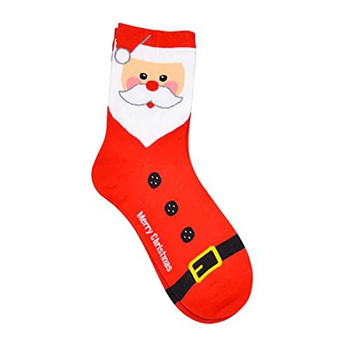 Chaussettes de dessin animé Chaussettes en coton pour wapiti et bonhomme de neige Chaussettes chaudes pour l'hiver du père Noël, élastiques respirantes, utilisées comme chaussettes d'extérieur, chauss