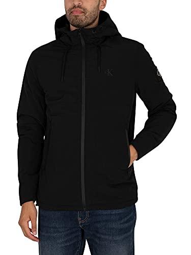 Calvin Klein Jeans Hooded New Harrington Jacket Chaqueta, CK Negro, S para Hombre