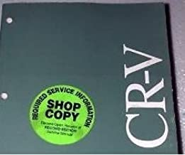 2003 HONDA CRV CR-V Electrical Troubleshooting Wiring Diagram Service  Manual EWD: Honda: Amazon.com: BooksAmazon.com
