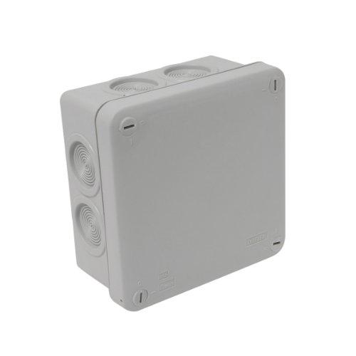 Debflex 718220 Abzweigdose wasserdicht IP55, 100x100/P55, grau