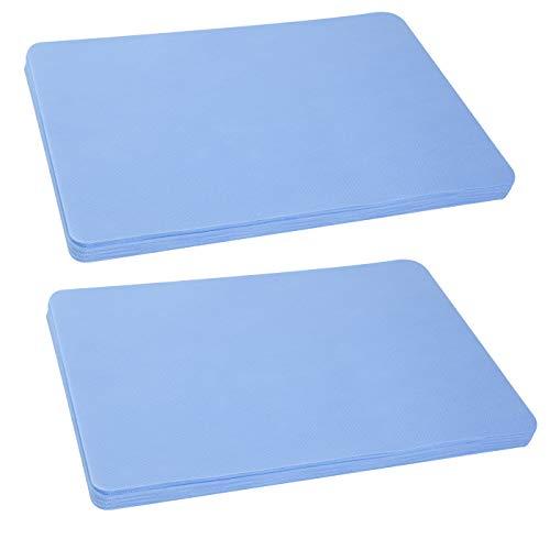Sensalux Tischsets, stoffähnliches Vlies, abg. Ecken, Öko-Tex Standard 100, abwaschbar, Platzsets, hellblau 100 STK.