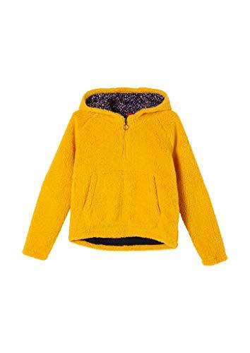 s.Oliver Mädchen Kapuzensweatshirt aus Teddy-Plüsch Yellow L.REG