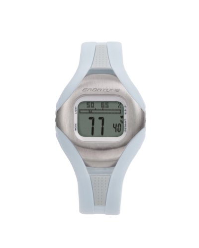 Sportline Women's Solo 960 Any Touch Step & Distance Pedometer Heart Rate Monitor Watch, Pedometer Tracks Steps, Distance, Speed, Exercise Time, and Calories Burned