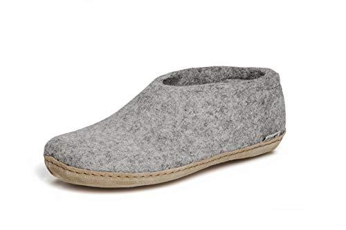 glerups dk A Shoes Unisex - Erwachsene Filz-Hausschuh, Damen,Herren Huettenschuhe,Filz-Schuhe,Filz-Pantoffel,Pantoletten,Puschen Grau, 39 EU / 6 UK
