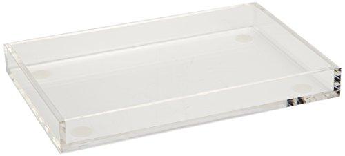 "Rosseto SA115 Acrylic Rectangle Bakery Display Tray, 18"" Length x 12"" Width x 2"" Height, Clear"