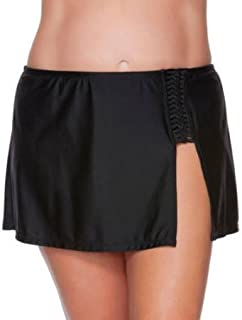Women's Skirted Swimsuit Bottom with Braid Detail XL (16-18)