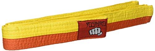 YOSIHIRO 49002.005 Cinturón, Unisex Adulto, Amarillo, 2.40 cm