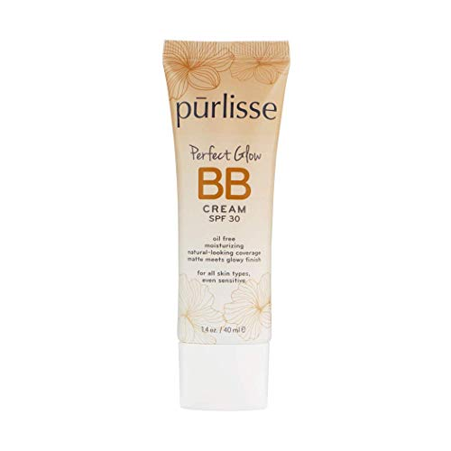 purlisse BB Tinted Moisturizer Cream SPF 30 - BB Cream for All Skin Types - Smooths Skin Texture, Evens Skin Tone - 1.4 Ounce (FAIR)