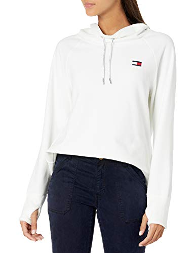 Tommy Hilfiger Women's Premium Performance Long Sleeve Fleece Pullover Sweatshirt, Cloud, Medium