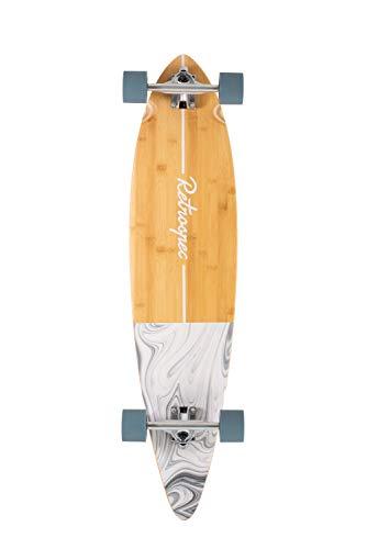Retrospec Zed Longboard Pintail Bamboo Long Board Skateboard Cruiser Whitecap, One Size, Whitecaps