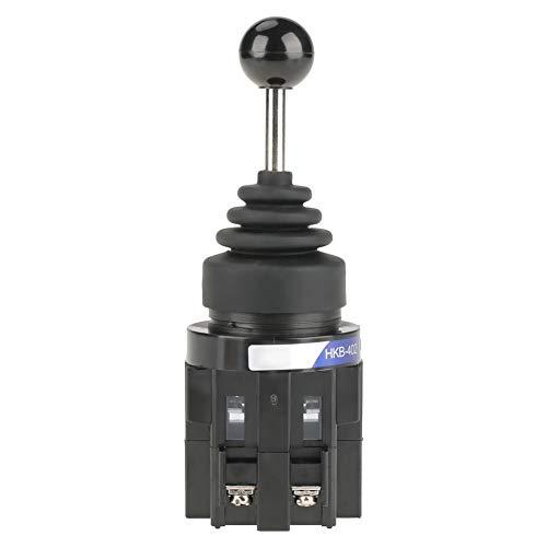Interruptor de palanca universal, 1 pieza CS-402 4NO 4 posiciones Regreso momentáneo Joystick Interruptor de palanca universal ampliamente utilizado para control industrial Cubierta de goma impermeabl