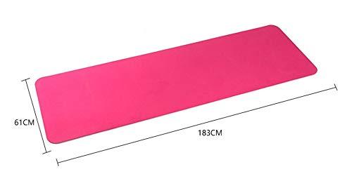 zjq Tappetino Yoga 183 * 61 Cm 6 Mm Spessore Doppio Colore Antiscivolo TPE Yoga Mat qualità Esercizio Mat Sport per Palestra