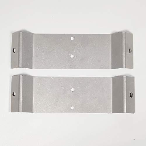Elbe®Eckmontagehalterung für Duschpaneel, aus Metall, inklusive Montagezubehör, 20 x 6cm, RNECK-01