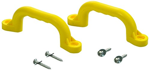 CREATIVE CEDAR DESIGNS Playset Safety Handles One Pair Yellow One Size
