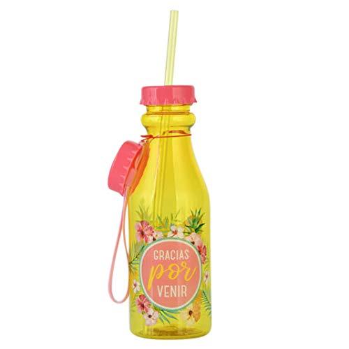Lote de 10 botellas PVC'GRACIAS POR VENIR' 500 ml- Detalles y regalos para Bodas, Comuniones, Cumpleaños y Bautizos