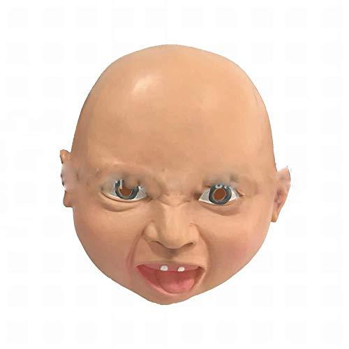 miaozai Gritos Máscara De Cosplay De Halloween Cara Enojada Cara Sonriente Divertido Bebé Máscara De Látex The Road 2pcs,Lächelndes Gesicht