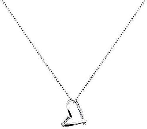 ZHIFUBA Co.,Ltd Necklace Love Necklace Simple Clavicle Chain Heart Shaped Pendant Women Gifts
