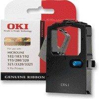 OKI Microline ML320 Turbo Printer - Black Ribbon Cassette (09002303) - Original Cartridges