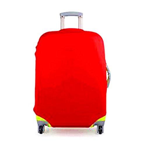 Zantec Candy Color elástico Draw Bar Caja Cover maletín Carcasa kofferabdeckung, rojo, M (22-24 inches)