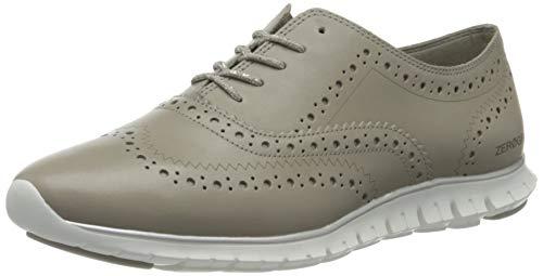 Cole Haan Zerogrand Wing Ox Closed Hole, Zapatos de Cordones Oxford para Mujer, Grey (Paloma Grey Leather/Optic White Paloma Grey Leather/Optic White), 42 EU