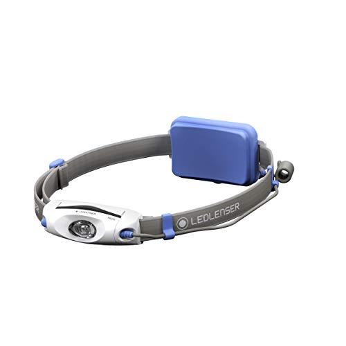 Ledlenser NEO4, LED-Stirnlampe, Lauflampe mit rotem Rücklicht, batteriebetrieben, bis zu 40h Laufzeit, 240 Lumen, blau …