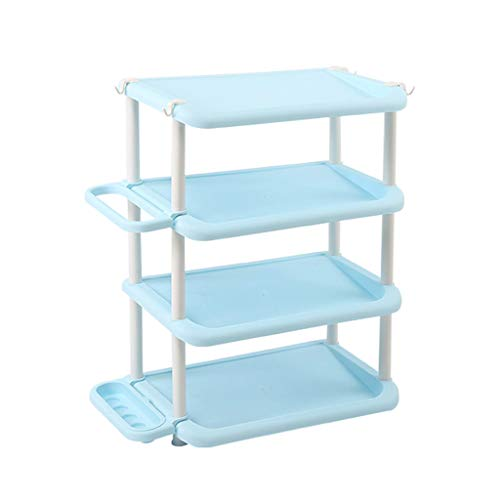 Zapatero Rack De Zapatos De Plástico De Múltiples Capas De Alta Capacidad Shoebox Hogar Multifunción Simple Almacenamiento Pequeño Estante (Color : Blue, Size : 104CM)