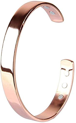 Gtozcon Magnetic Pure Copper Arthritis Therapy Bracelet with Extra Strong Magnets for Arthritis, Migraine & Pain Relief, Osteoarthritis, Menopause Support, Hot Flushes (2 PCS)