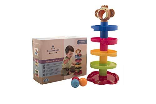 PALESTRAKI Pista per biglie e Palline Colorate con scivoli e Suoni - Giocattoli educativi per Bambini e Bambine di 1, 2, 3 Anni