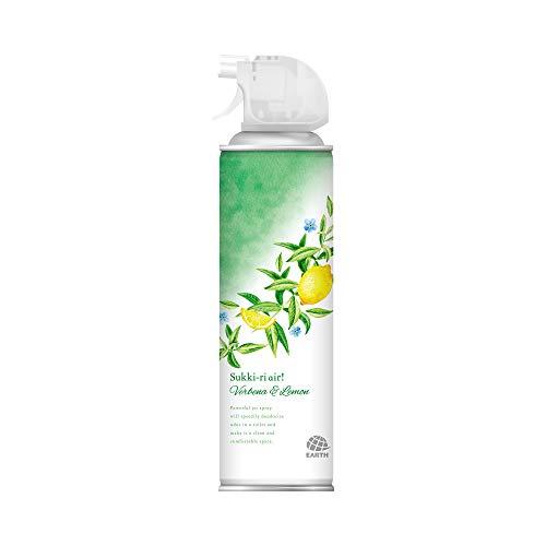 アース製薬 トイレのスッキーリエア! Sukki-ri air! ヴァーベナ&レモンの香り 350ml 消臭スプレー