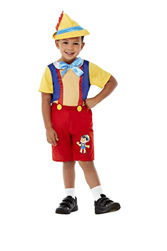 Smiffys Toddler Puppet Boy Costume Disfraz de marioneta para niño pequeño, color rosso, Toddler-3-4 Years (71026T2)