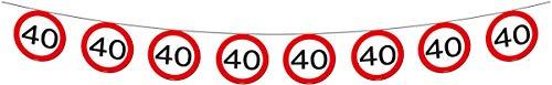 Folat Geburtstag Party Verkehrsschild 12Meter Banner–40. Geburtstag
