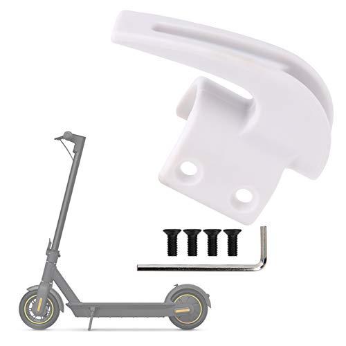 Alomejor Elektroroller-Vorderhaken, tragend 70 kg, Tragehaken-Montagesatz mit Befestigungsschraube für Hängetaschen Kompatibel mit Ninebot MAX G30(Weiß)