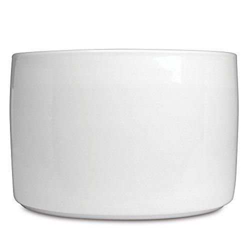 BergHOFF Concavo - Cuenco de porcelana blanca vitrificada, 2500 ml, 18 x 19 x 19 cm