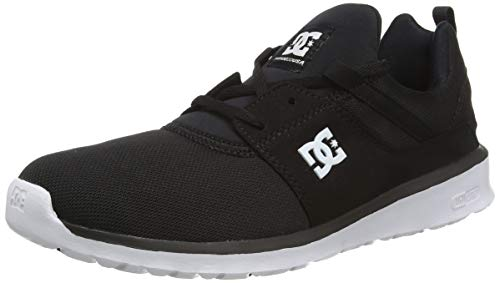 DC Shoes Heathrow, Herren Low-Top Sneakers, Schwarz (Black/White - BKW), 46 EU