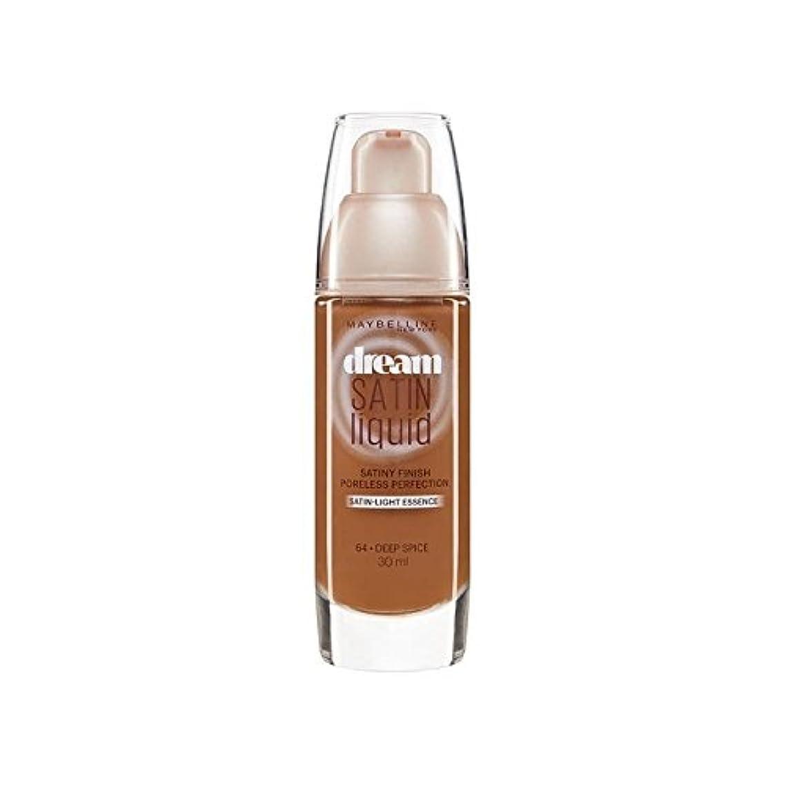 ポーンメイエラ全能メイベリン夢のサテンのリキッドファンデーション62白檀30ミリリットル x2 - Maybelline Dream Satin Liquid Foundation 62 Sandalwood 30ml (Pack of 2) [並行輸入品]
