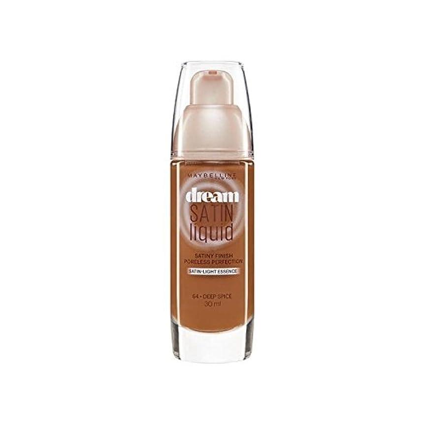 多様性ライン王位Maybelline Dream Satin Liquid Foundation 62 Sandalwood 30ml (Pack of 6) - メイベリン夢のサテンのリキッドファンデーション62白檀30ミリリットル x6 [並行輸入品]