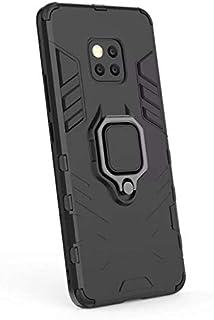 غطاء حماية لجهاز هواوي ميت 20 برو بتصميم ايرون مان من ارمور مع حامل حلقي اسود