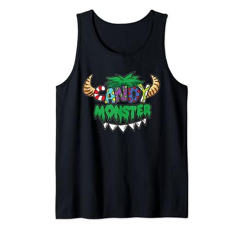 Candy Monster - Disfraz infantil San Martn Halloween Camiseta sin Mangas