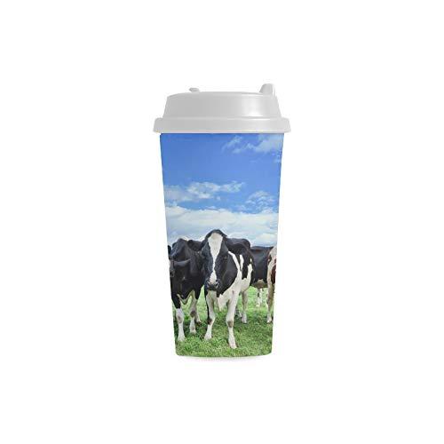 Reisebecher Holstein Friesian Cattle Vast Green Dutch Meadow 16 Unzen Doppelwandige Plastikbecher Pendler Reisekaffeetassen Für Frauen Trinken Sport Wasser Personalisierte Kaffeetassen