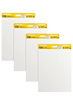 Post-it Super Sticky Easel Pad 25 x 30 Inches 30 Sheets/Pad 4 Pads Large White Premium Self Stick Flip Chart Paper Super Sticking Power  559-4