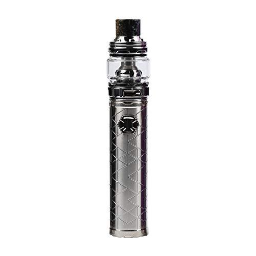 Ijust 3 kit,3000mAh 80W Groß Dampf Eleaf Ijust 3 Ello Duro Verdampfer HW-N HW-M Kein Nikotin und Tabak (Silber)