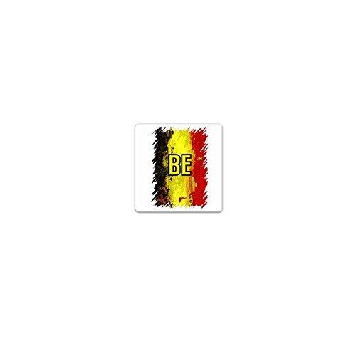 Copytec Aufkleber/Sticker -Belgien Staat Royaume de Belgique BE Königreich Niederländisch Französich Deutsch Brüssel Westeuropa Demokratie Fahne Flagge Emblem 7x7cm #A3641