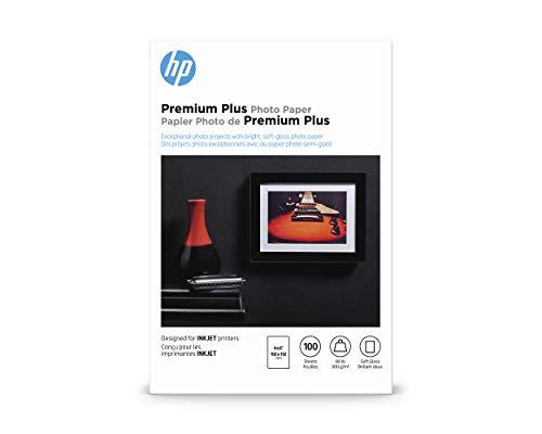 HP Premium Plus Photo Paper, Soft Gloss, 4x6, 100 Sheets (CR666A)